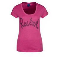 Футболка спортивная женская Reebok Tee Canmel Z64434 (розовая, хлопок, на каждый день, логотип рибок на груди)