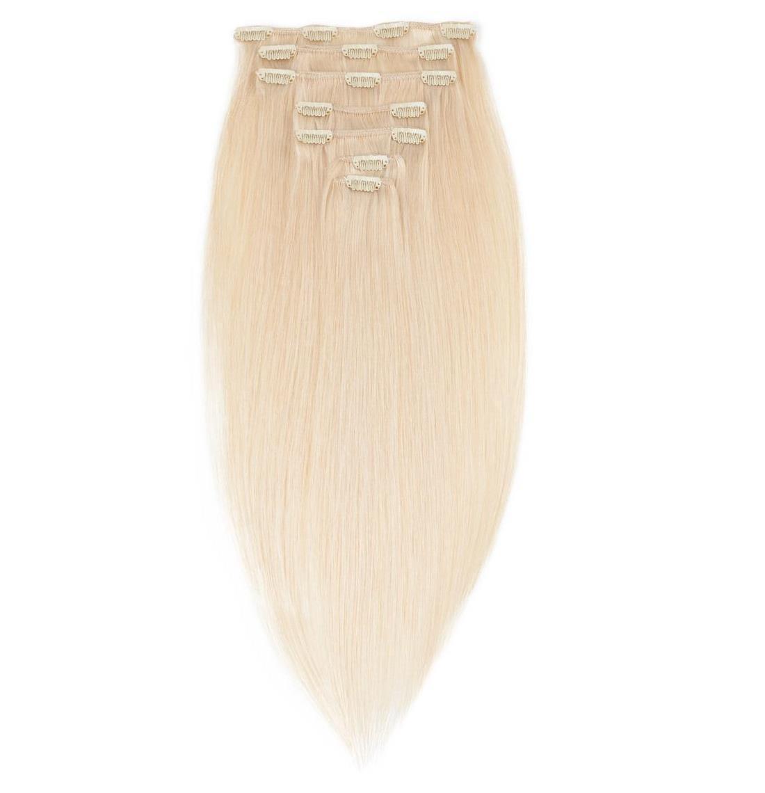 Волосся на заколках 50 см. Колір #60 Холодний блонд