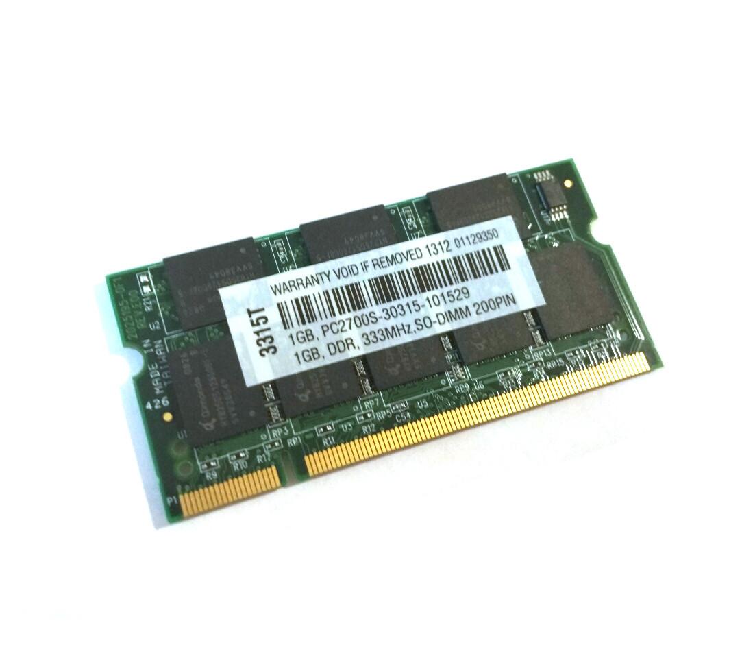 Память 1 ГБ SODIMM DDR PC2700 333 DDR1 новая, фото 1