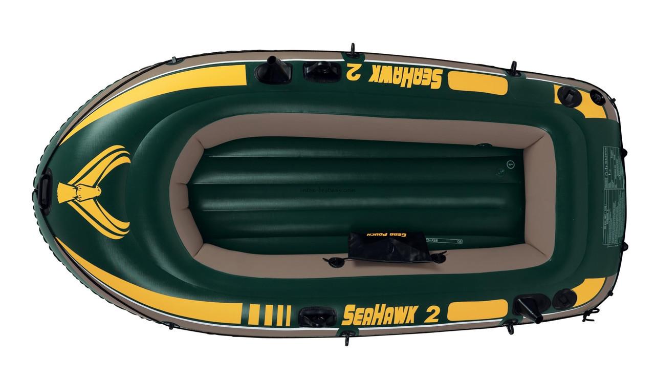 Надувная двухместная лодка Seahawk 2 Intex 68346