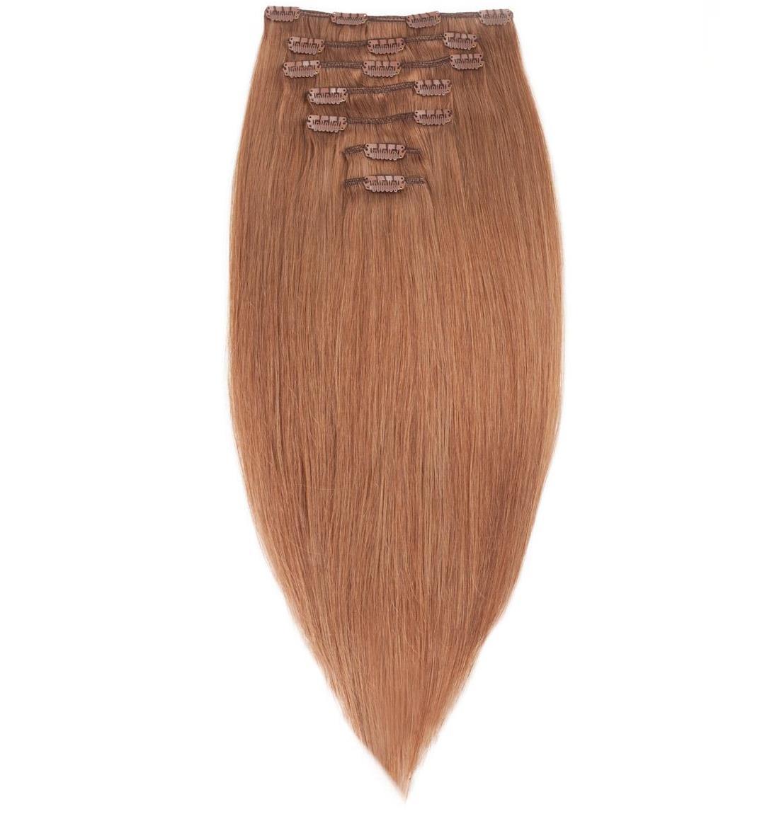 Волосся на заколках 50 см. Колір #12 Темно-рудий