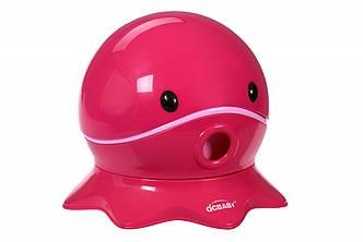 Дитячий горщик QCBABY Восьминіг рожевий QC9906pink