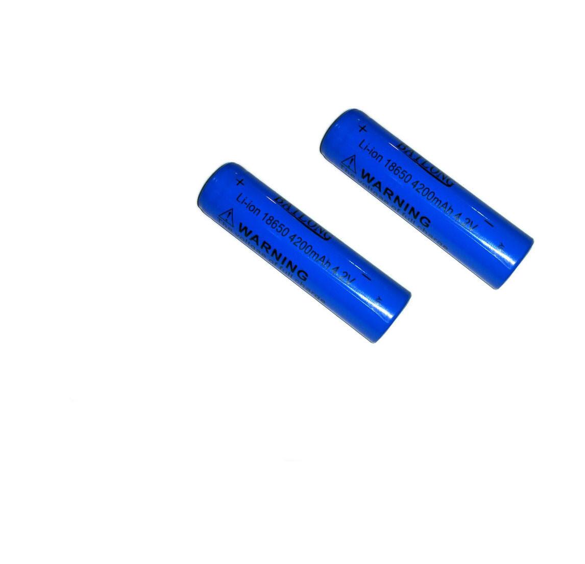 2шт Аккумулятор Li-Ion Bilong 4.2V 18650 4200 New