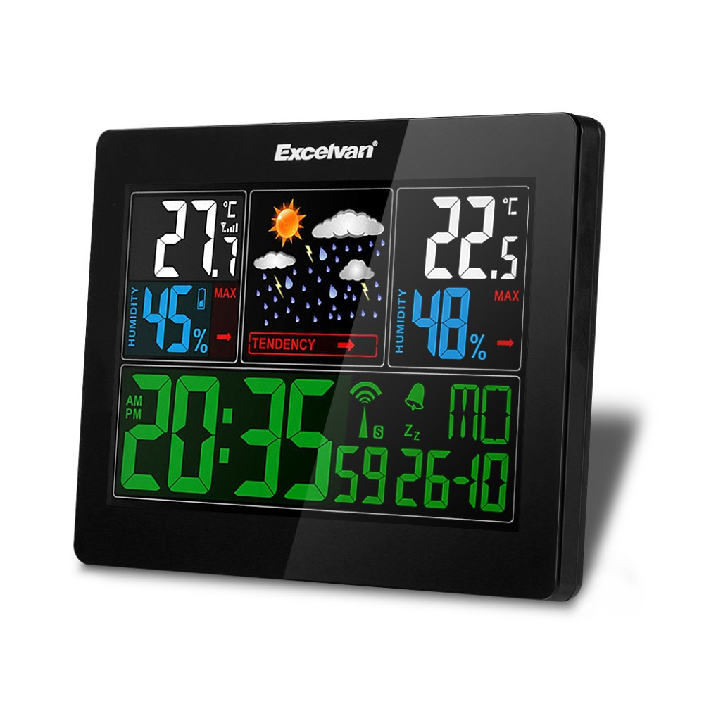 Безпровідна метеостанція, кольоровий дисплей Excelvan