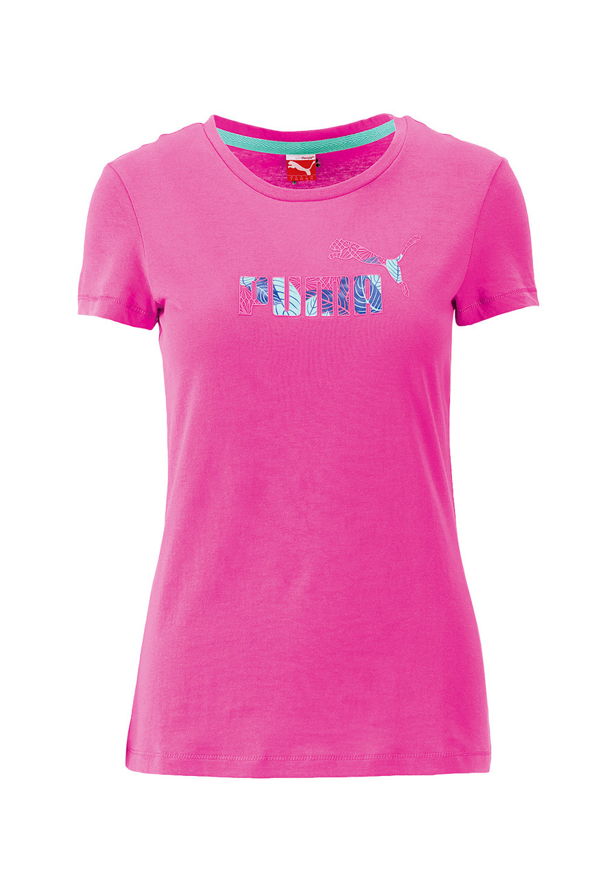 Футболка спортивная, женская PUMA T-Shirt Large Logo Tee art. 828074 15 пума
