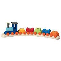 Nic Подсвечник праздничный деревянный Поезд полукруглый