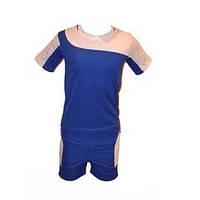 Форма футбольная детская, р-ры: 12, 14, 16, 18 (цвет: синий с белыми вставками)