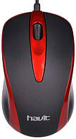 USB дротова оптична мишка Havit HVMS675 Red, фото 1