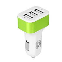 Автомобильная зарядка CAR от прикуривателя на 3 USB