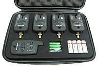 Набор сигнализаторов поклевки с пейджером 4+1 SF23657, фото 1