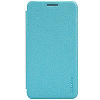 Кожаный чехол книжка Nillkin Sparkle для Samsung Galaxy A3 A300 бирюзовый, фото 1