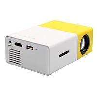 Мини проектор портативный мультимедийный с динамиком Led Projector YG300