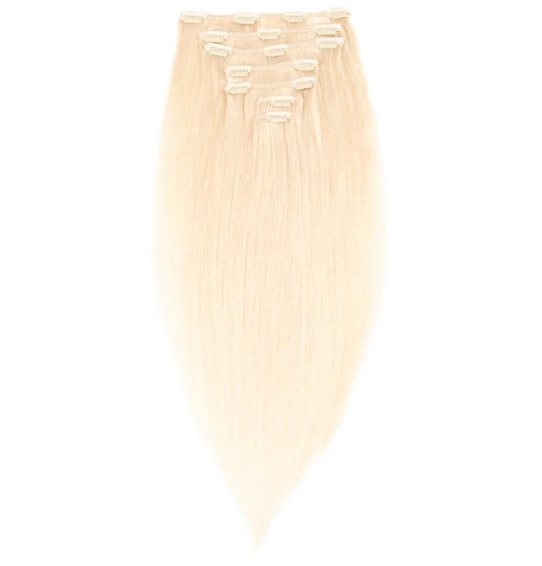 Волосы на заколках 40 см 120 грамм. Цвет #613 Блонд, фото 1