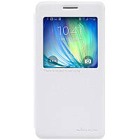 Кожаный чехол книжка Nillkin Sparkle для Samsung Galaxy A5 A500 белый, фото 1