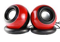 Колонки для ПК SPS D008 компьютерные колонки USB Red