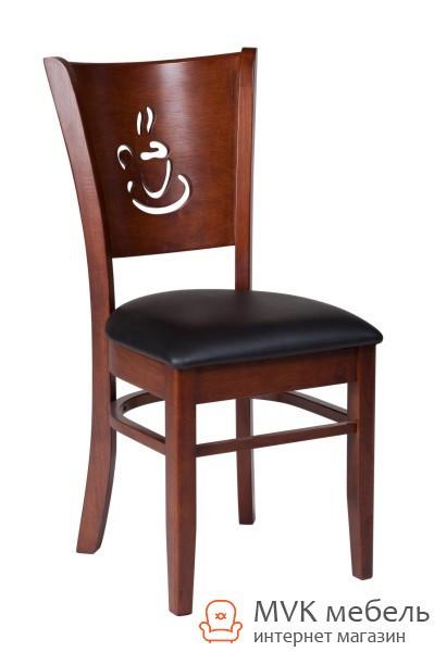 "Деревянный стул ""Амбер"" (КЗ черный) (каштан)"