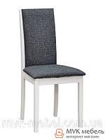 "Мягкий стул ""Барвис"" (ТК штрокс серый) (белый)"