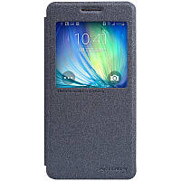 Кожаный чехол книжка Nillkin Sparkle для Samsung Galaxy A5 A500 черный, фото 1