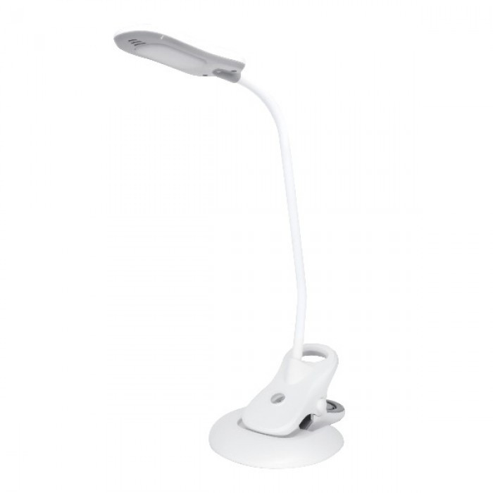 Светодиодная настольная лампа HOROZ ELECTRIC EZEL 5W LED на прищепке белая