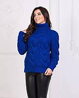 Красивый женский свитер с оригинальной вязкой