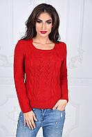 Женский модный свитер с красивым узором