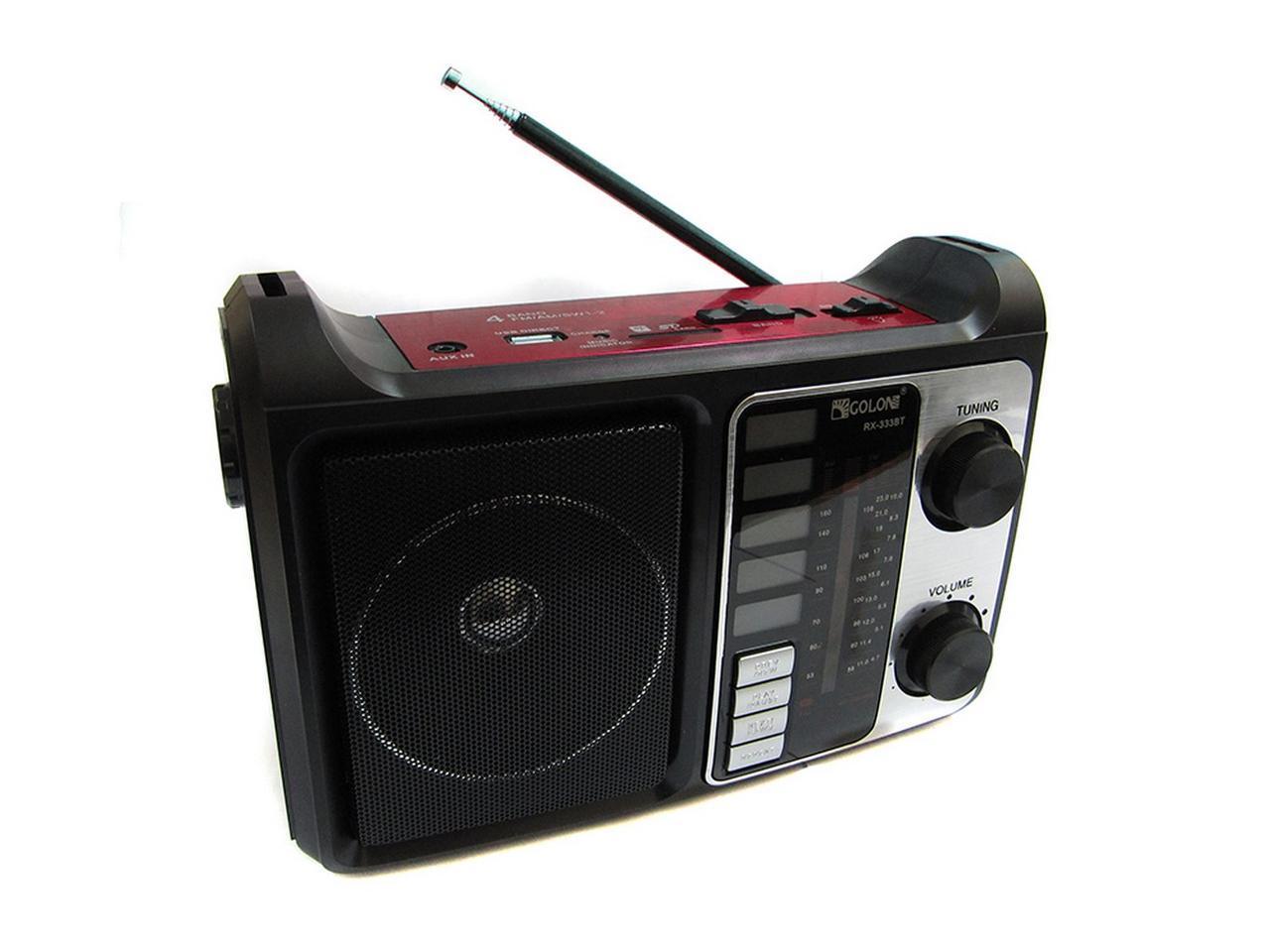 Портативная колонка радио MP3 USB Golon RX-333+BT c Bluetooth Red
