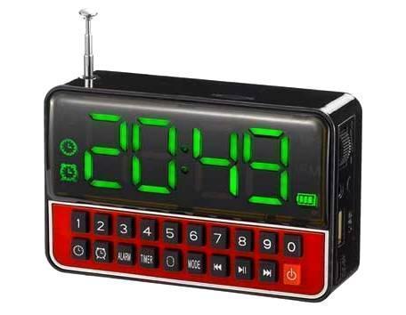 Портативная колонка MP3 часы WS-1513 Black