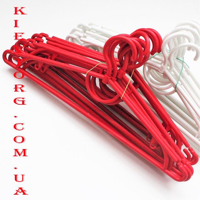 Вешалки плечики пластиковые 42 см красные