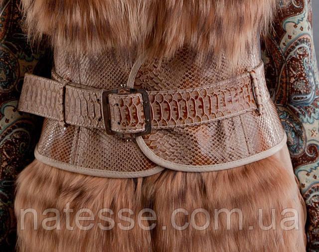 Кожаный пояс-корсет (широкий пояс) из рельефной кожи. Объем талии 60-80 см.