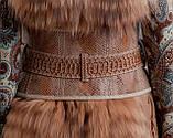 Кожаный пояс-корсет (широкий пояс) из рельефной кожи. Объем талии 60-80 см., фото 2