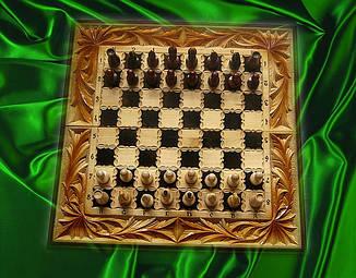 Різьблені шахи сувенірні, фото 2