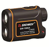 Лазерный дальномер спидометр SNDWAY SW-1000A 3-1000M 1000м Orange, фото 1