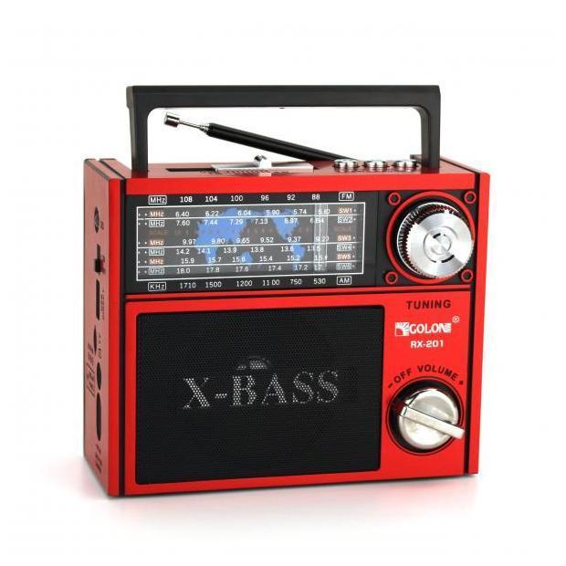 Радиоприемник колонка MP3 Golon RX-201 Red