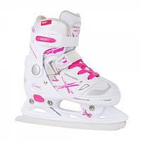 Коньки детские раздвижные Tempish NEO-X Ice Girl White/Pink