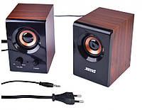 Колонки для ПК компьютера Jiteng D99A Brown, фото 1