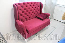 Диванчик в коридор велюрової тканини (Яскраво-рожевий)