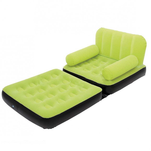 Надувное кресло кровать трансформер Bestway 67277 зелёный