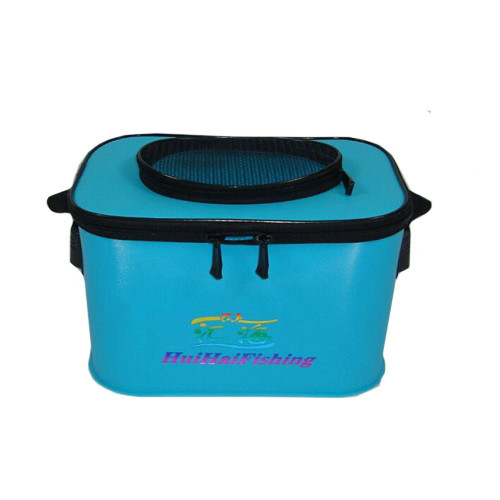Сумка ведро для рыбалки водонепроницаемая с отверстием для живца 30х20х20см SF23840
