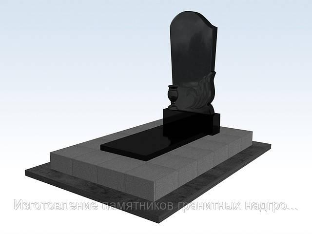 Гранитный памятник, (волна с вазой)  каталог надгробных памятников