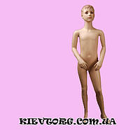 Манекен детский для магазина одежды реалистичный мальчик в полный рост, 130 см