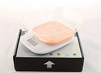 Весы кухонные Domotec ACS SH-125 до 7 кг с чашей и подсветкой, Оранжевые