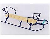 Санки для двойни Украина 3 цвета с ручкой, фото 3