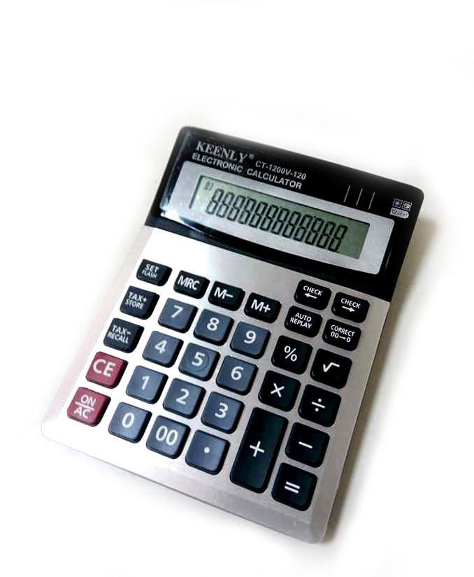 Бухгалтерський настільний калькулятор Гостро CT-1200V