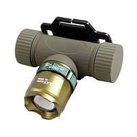 Налобный ультрафиолетовый фонарик Police BL-6866 3000W, фото 1