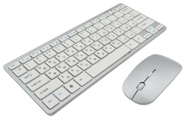Беспроводная клавиатура с мышкой 902 серая