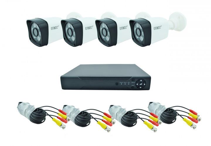 Комплект DVR регистратор 4-канальный и 4 камеры UKC DVR CAD D001 KIT