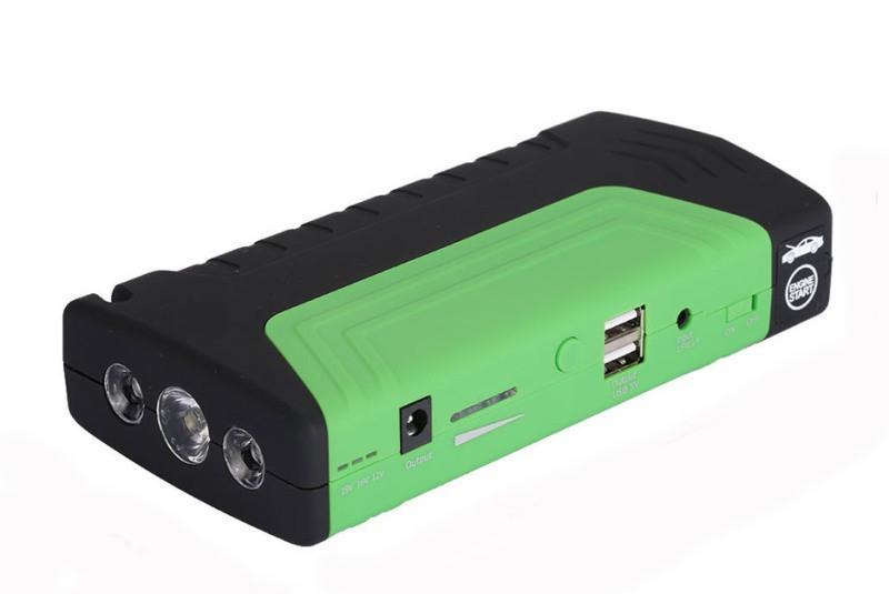 Пусковий пристрій авто акумулятора Jump Starter 2000W зелений