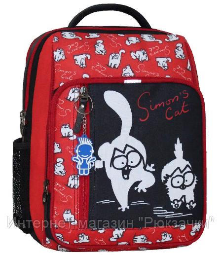 6d6986bf844d Школьный ортопедический рюкзак Bagland Simon красный черный -  Интернет-магазин