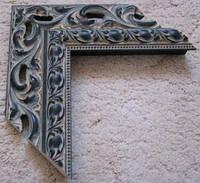 Деревянный багет для оформления рам черный с золотом. Рамы для зеркал и картин.