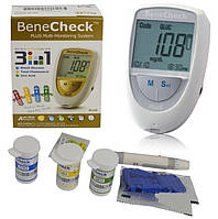 Устройство 3 в 1BeneCheck Plusдля измерения уровня глюкозы, холестерина, мочевой кислоты в крови, Польша, фото 1